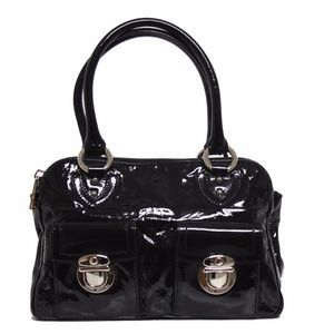 New Blake Patent Black Leather Satchel